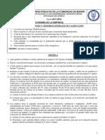 ENUNCIADOSExamen Economia de Empresa Selectividad Madrid Junio 2012 Enunciado