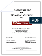 Project on Financial Analysis of ICICI Bank