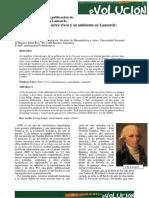 Artículo Sobre Lamarck en EVOLUCIÓN (1)