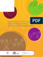 LINEAMIENTOS DE POLÍTICA PÚBLICA PARA LA FAMILIA EN EL MUNICIPIO DE MANIZALES