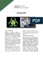 Bioseguridad Artículo de Divulgacion