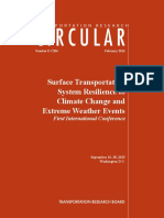 Surface Transportation System Resilience to Climate Change and Extreme Weather Events Ec204