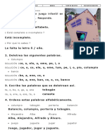 Solucion Examen Letras Sílabas Palabras