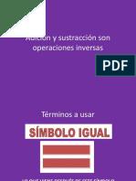 Adición y sustracción son operaciones inversas.pptx