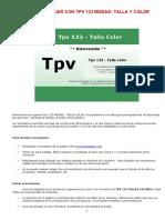 Manual Tpv123 Moda