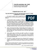 COMUNICADO PNP N° 43 - 2017