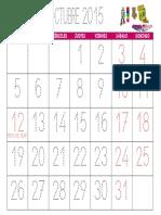 Calendario Infantil Octubre 2015