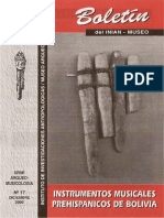 Boletin INIAM Nº17 Instrumentos Musicales Prehispánicos de Bolivia