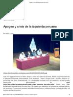 Apogeo y Crisis de La Izquierda Peruana _ Vacío