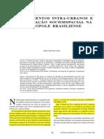 Deslocamentos intra-urbanos e estruturação socioespacial na metrópole brasiliense