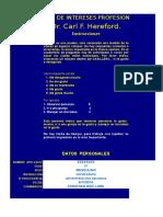 Inventario de Intereses Profesionales Hereford