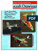 Scale Aircraft Drawing Volume I World War I