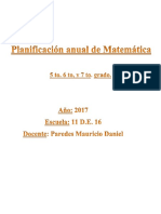 Planificación Anual de Matemática 2017 5to 6to y 7mo