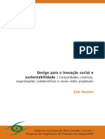 MANZINI Design Para a Inovação Social e Sustentabilidade