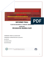 Plan Desarrollo Urbano Ambiental Rivadavia Banda Sur Salta