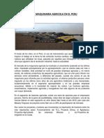 Evolucion de La Maquinaria Agricola en El Peru