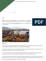 MEF_ Inversión Pública Creció 16,2% en Agosto _ Economía _ Perú _ El Comercio Perú