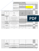 Cronograma Peniel  2014