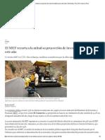 El MEF Recorta a La Mitad Su Proyección de Inversión Pública Para Este Año _ Economía _ Perú _ El Comercio Perú