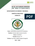 RobInd Consulta AntecedentesHistoricos