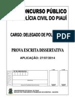 Prova Dissertativa Civil2014