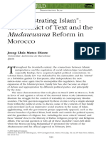 Demonstrating Islam:the Conflict of Text and the Mudawwana Reform in Morocco