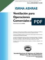 ASHRAE 154-2003 Ventilacion Para Operaciones Comerciales de Cocina