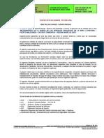 Especificaciones Tecnicas Generales Sanitarias La Pastora