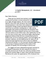 November 2017 Investment Letter - Corona Associates Capital Management LLC