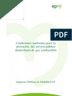EPM Contrato de Condiciones Uniformes Gas CCU Gas Marzo 2016