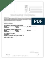 Verificacion de Engranes Vernier de Modulos Practica 7