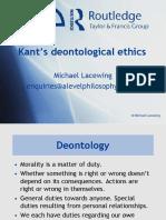 Kant's Deontological Ethics