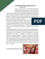 Estadisticas de Exportaciones de Flores en El Perú