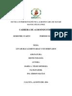 Levaduras Alimentarias Y Sus Derivados Biotecnologia