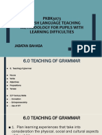 6.0 Teaching of Grammar