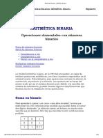 Sistemas Binarios_ Aritmética Binaria