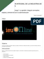 Actividad de Aprendizaje 1. La Gestión Integral Conceptos Etapas y Diferencia c