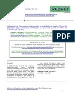 Influência Do Nitrogênio Na Produção e Qualidade Do Capim Tifton 85
