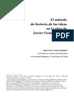 El método de historia de las ideas en la obra de Javier Ocampo López