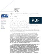 ACLU of Nevada petition against execution of Scott Dozier