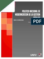 Politica Nacional de Modernización de La Gestión Pública-macb