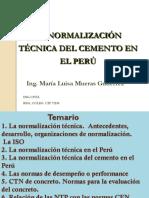 Normalizacion Tecnica del cemento en el Peru