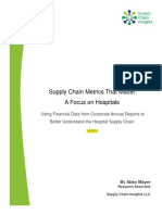 Supply Chain Metrics That Matter-A Focus on Hospitals-6 JAN 20131