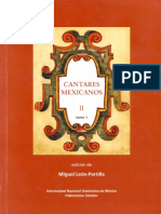 Leon Portilla Miguel - Cantares Mexicanos II Tomo 1.pdf