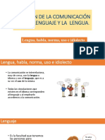 2.2. Relación de La Comunicación Con El Lenguaje y La Lengua Curso de Nivelacion.