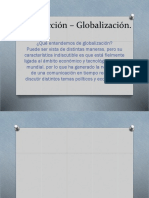 Introducción – Globalización