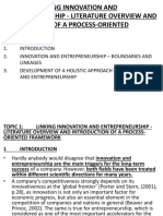 TOPIC 1. LECTURE. 34. Linking Innovation & Entrepreneurship