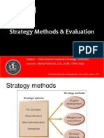 Strategy Methods & Evaluation