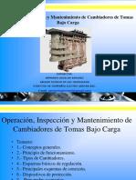 Operación Inspección y Mantenimiento de Cambiadores de Tomas Bajo Carga
