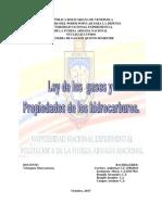 Ley de Los Gases y Propiedades de Los Hidrocarburos
